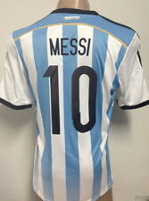 NEW!!! WORLD CUP 2014 ORIGINAL ARGENTINA HOME SOCCER JERSEY MESSI #10