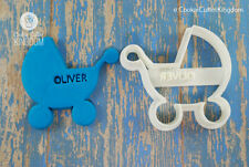 Custom Baby Carriage / Stroller Cookie Cutter, 3D Printed