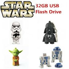 Cartoon Star War Warrior USB 2.0 Memory Stick Flash pen Drive 8GB 16GB 32GB