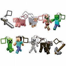 Minecraft 3D keyring keychain choice of 10 figures choose your favourite!