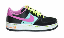 Nike Air Force 1 (GS) Big Kids Sneakers Black/Violet-Blue-White 314219-009