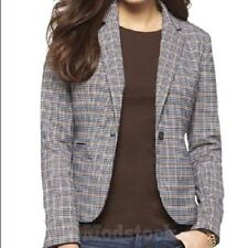 122L3 Womens Merona Plaid Blazer Sport Coat Jacket NWOT