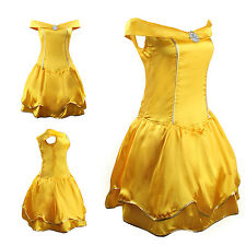 Adult Belle Princess Ladies Sexy Fancy Dress Fairytale Party Costume Outfit