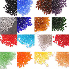 Wholesale 100Pcs 18 Colors Czech Crystal Loose Spacer Beads 4MM 6MM Free Ship