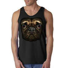 Big In Your Face Pug Puppy Dog Lovers Tank Top Sleeveless Shirt