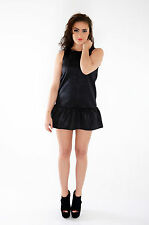 LADIES WOMENS PEPLUM MINI SHORT EVENING PARTY DRESS SIZE