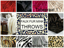 LUXUARY FAUX FUR SOFT MINK THROWS SOFA BED BEDSPREADS 3 SIZES