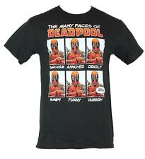 Marvel Comics Many Faces of Deadpool  Men's Graphic T-Shirt