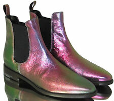 Vivienne Westwood Leather Iridescent Chelsea Boot