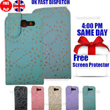 DIAMOND LEATHER FLIP CASE COVER & FREE SCREEN PROTECTOR FOR GALAXY S3 I9300