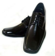 NEW * DELLI ALDO * FASHION MENS LEATHER LACE UP OXFORDS  DRESS SHOES / Black