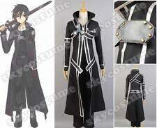 Sword Art Online Kazuto Kirigaya Kirito COSplay Costume Outfit Uniform Attire