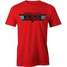 Daddys Little Wingman T-Shirt Funny Dad Fathers Tee New