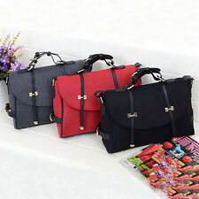 Fashion Womens Briefcase Tote Handbag Shoulder Crossbody Messenger School Bag