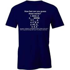 How Fast Can You Guess These Words T-Shirt Geeky Nerdy Funny  Tee New