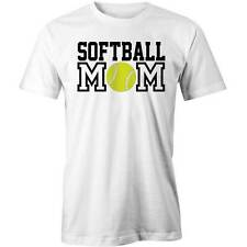 Softball Mom T-Shirt Funny Mothers Day Gift Mum Tee New