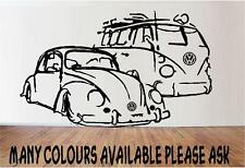 HUGE VW BUG AND BUS WALL ART BEDROOM WALL STICKER