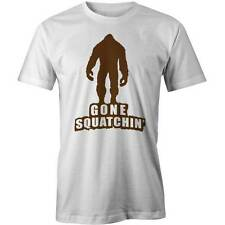 Gone Squatchin T-Shirt  Usa Aerican Myth Bigfoot Big Foot Funny Tee New