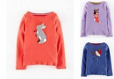 GIRLS EX MINI BODEN APPLIQUE LONG SLEEVE TOP TSHIRT 2 3 4 5 6 7 8 9 10 11 12