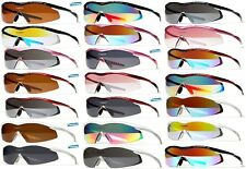 XLINE 5012 Sports Sunglasses Polarized 1.5mm Mirrored Clear Womens Cycling
