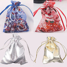 "50Pcs Drawstring Organza Gift Bags 4 Colors Wedding Favor Bag Pouch 3.5"" x 4.7"""