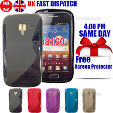 GRIP S-LINE SILICONE GEL CASE & FREE SCREEN PROTECTOR FITS GALAXY ACE2 I8160
