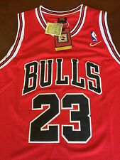 NBA Chicago Bulls Michael Jordan Hardwood Classic Sewn Jersey RED  NWT