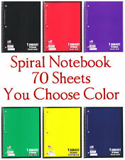 Spiral Notebook 1 Subject 70 Sheets College Ruled Spiral Notebooks *You Choose*