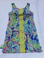 New Lilly Pulitzer 00 0 2 4 6 8 10 12 14 Delia Shift Dress Multi Toucan Play