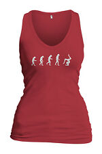 Women's Evolution Of Woman To Gymnast Tank Top Gymnastics Team Gift Tee Shirt