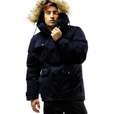 FUERZA Mens Winter Premium Heavy Duty Down Wellon Raccoon Hooded Parka Jacket