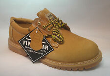 """New Mens Leather Oxford Shoes 4"""" Tan Slip Oil Resistant Oxford Work Boots Sizes"""