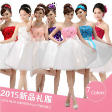 New  Elegance Padded Short Mini Bridesmaid Prom Party Evening Dress For Wedding