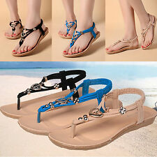 Hot Women's Flat Toe Shoes Flip Flops Summer Slipper Beach Strappy Thong Sandals