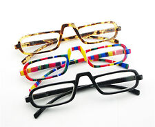 EGO COOL Style Design Reading Glasses Rainbow Stripe Amber Nerd +2.50
