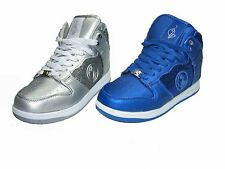 Baby Phat Gina women's athletic comfort flats lace up high top sneakers glitter