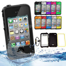New Waterproof Shockproof Dirt Proof Durable Case Cover For Apple iPhone 4 4S
