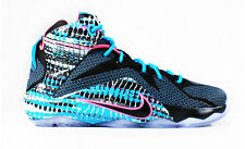 Nike Lebron XII 12 GS Sz 5Y-6.5Y 23 Chromosome Black Pink Blue White 685181-004