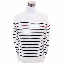 Tommy Hilfiger Men Classic Fit Crew Neck Long Sleeve Stripe Sweater - $0 Ship