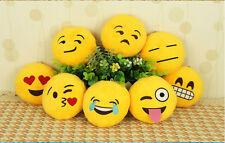 Soft Cute Plush Soft Emoji Smiley Emoticon Round Bag Ring Accessorie Gift Toy