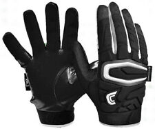 Cutters S60 ShockSkin C-Tack Gamer Grip Football Gloves, Black/White. S60-01