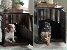 Dog Crate Kennel Cage Bed Night Stand End Table Wood Furniture Cave House Room