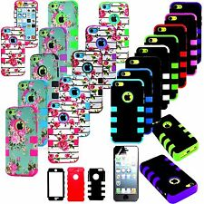 For Apple iPhone 5C Rugged Shockproof Impact Hard Soft Silicone Combo Case Cover