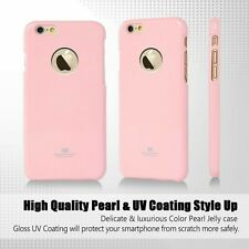 Genuine Goospery Pink Jelly Case Cover + Apple LOGO Cutout For iPhone 6/6s PLUS