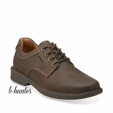 Clarks Unstructured Mens Untilary Way Dark Brown Nubuck Oxford Casual 26110823
