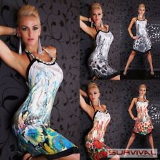 Womens Floral Dress Size 8-10 Sexy Designer Halter Neck Cocktail Party Fashion