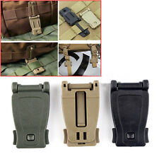 2/5/10X Black/Tan/Green Molle Strap Backpack Bag Webbing Connecting Buckle Clip