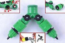 Garden Hose  1 / 2 Way Adapter Y Tap Connector Fitting Switch For Irrigation N