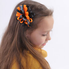 10pcs/lot 4 Inch Halloween Bow Boutique  Handmade Hair Bow With Clip For Girls