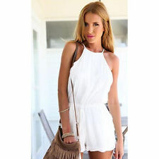 Ladies Women Clubwear Halter Playsuit Bodycon Party Jumpsuit Romper Trousers New